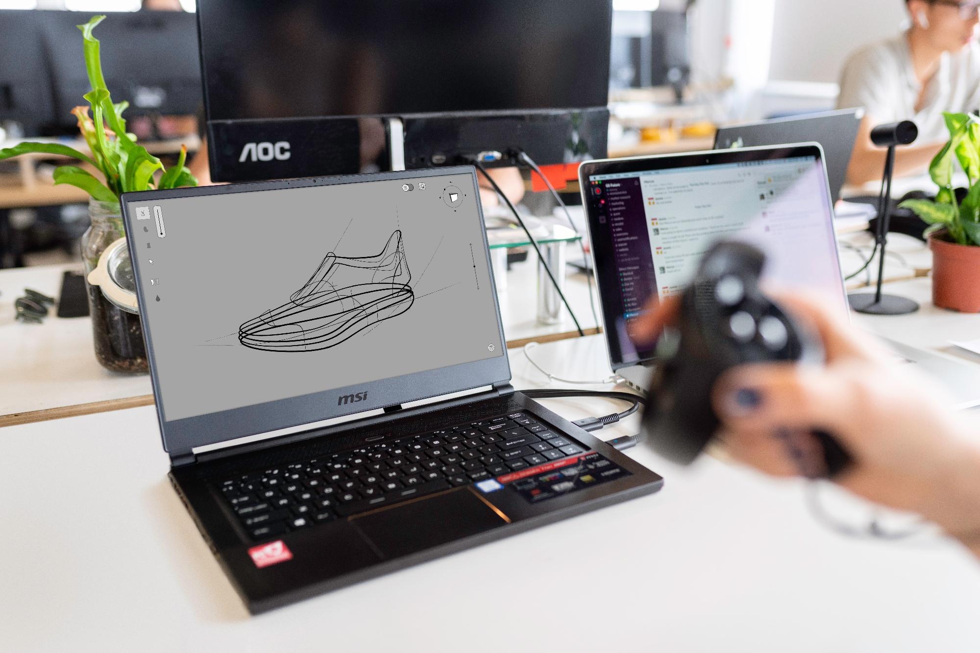 Shoe design in 3D