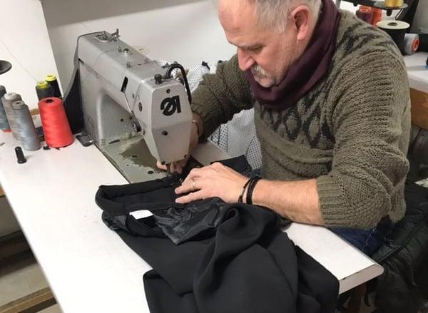 Italian clothing artisan at work
