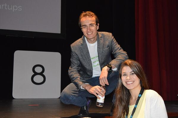 MakersValley cofounders, Alessio Iadicicco and Tiffany Chimal, celebrate a successful presentation at Parallel18 Demo Day. | MakersValley Blog