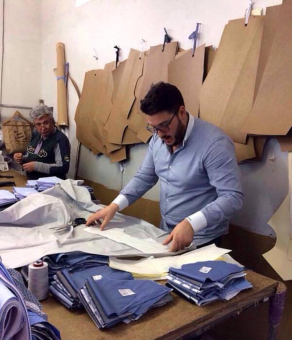 An Italian artisan performs a pattern check for a Made in Italy garment. | MakersValley Blog