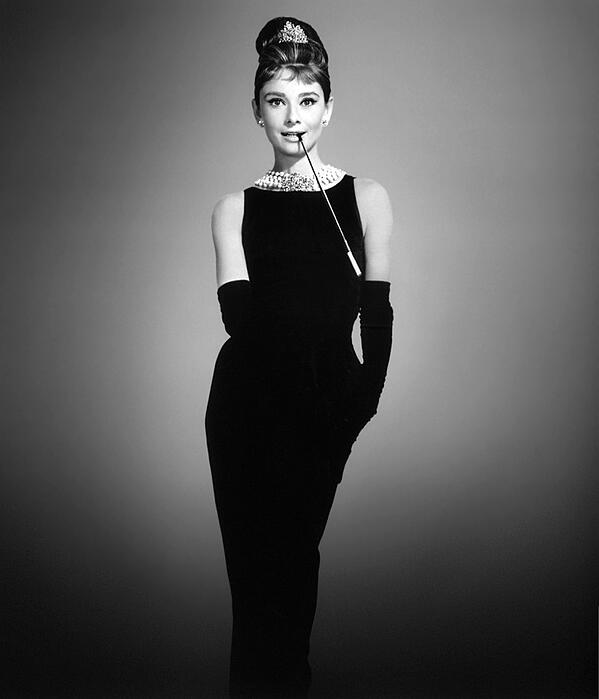 "Audrey Hepburn wore an iconic little black dress in the film ""Breakfast at Tiffany's"". 
