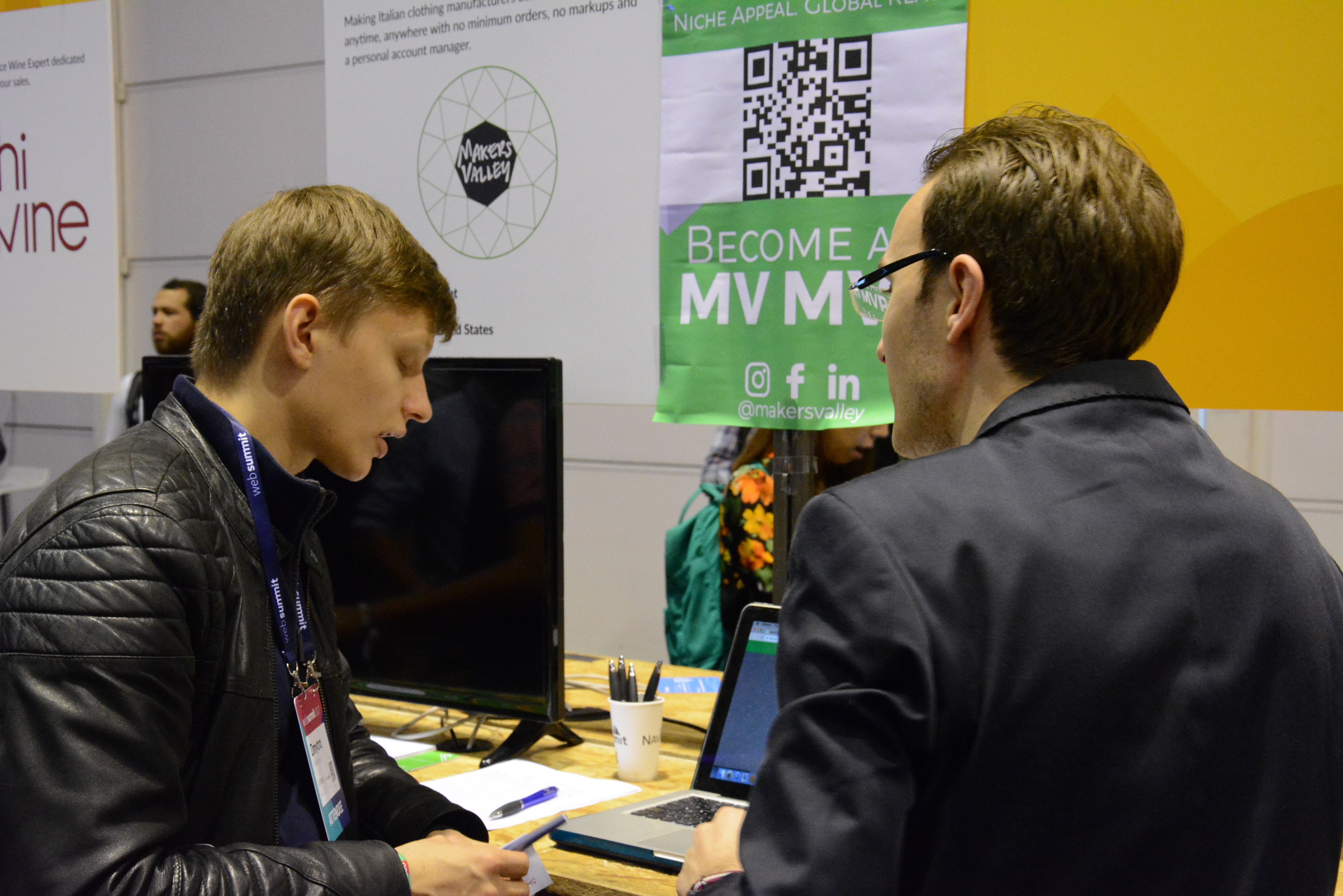 MakersValley connecting with other entrepreneurs at Web Summit