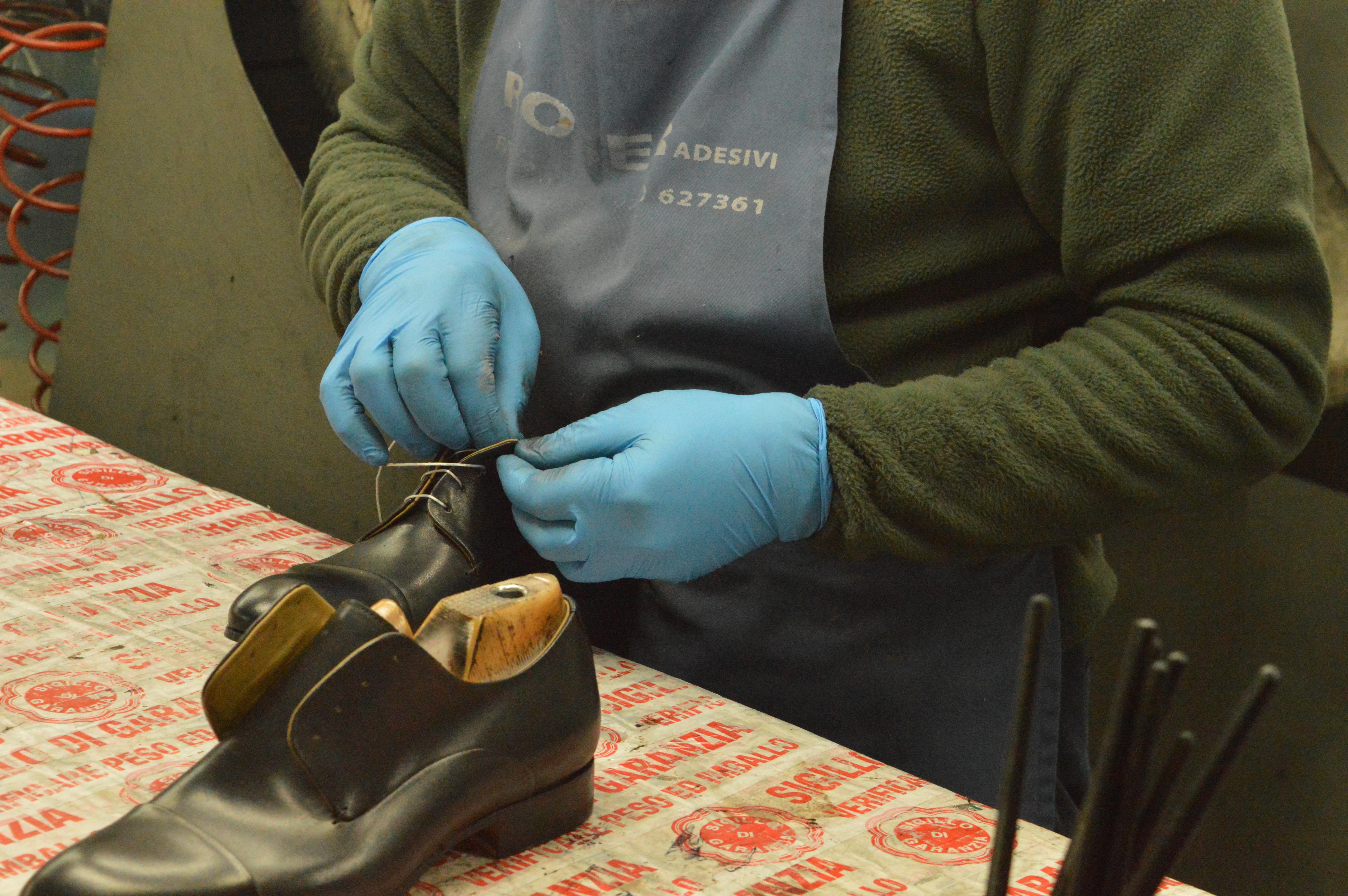 Italian Artisan Makes Italian Leather Shoe