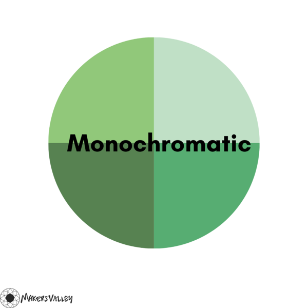 Monochromatic Colors on the Color Wheel | MakersValley