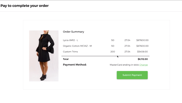 MakersValley Reorder Invoice Payment Example