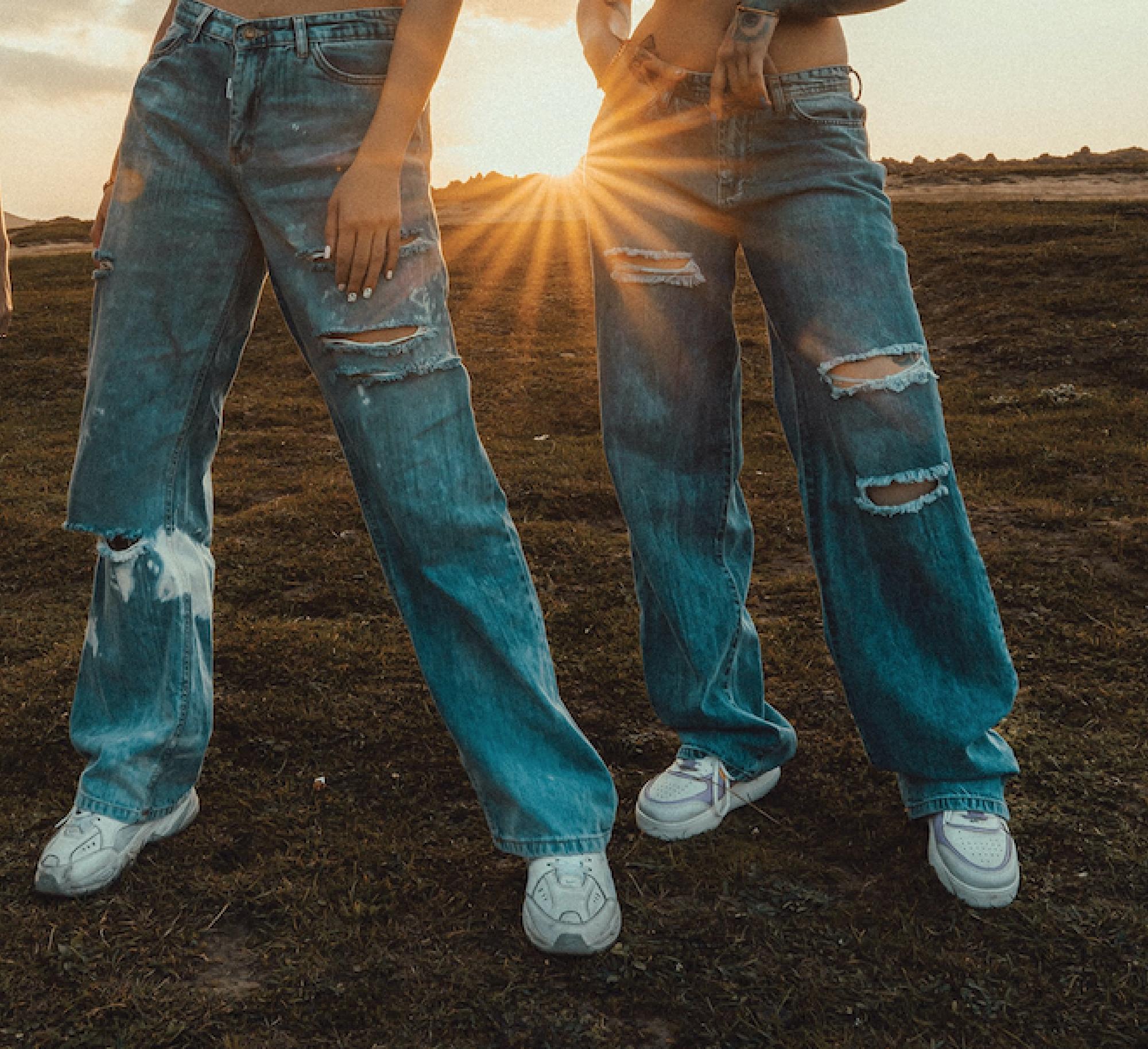 People wearing jeans
