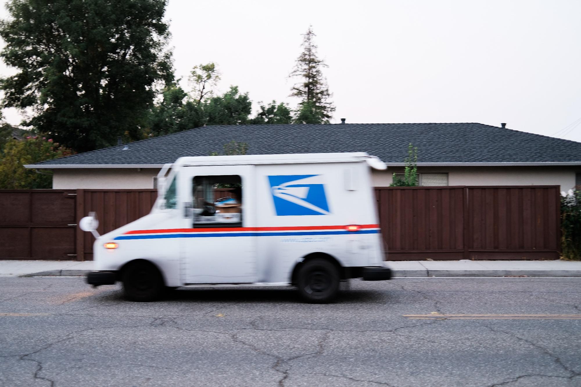 USPS delivering packages