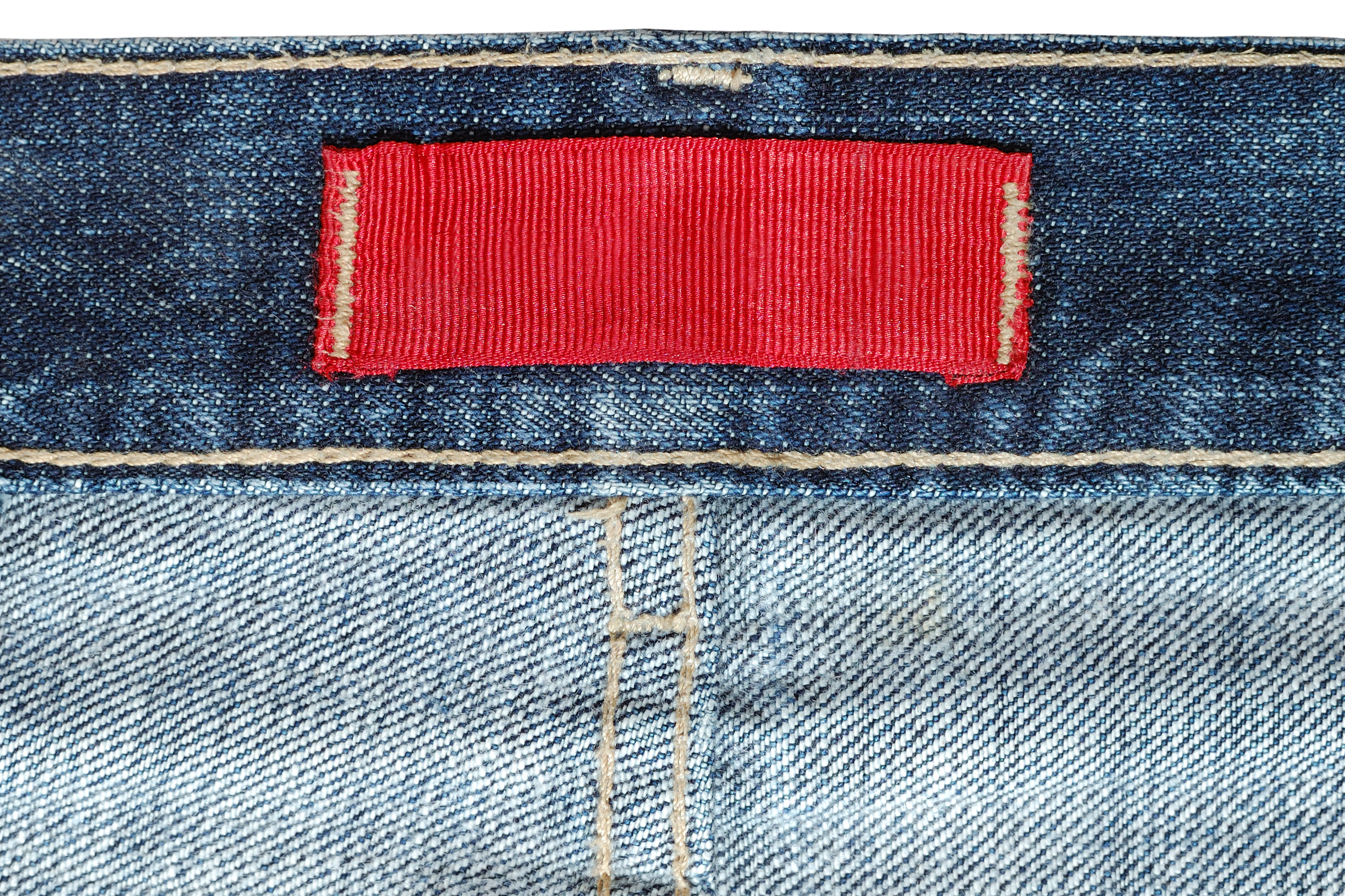jeans care label