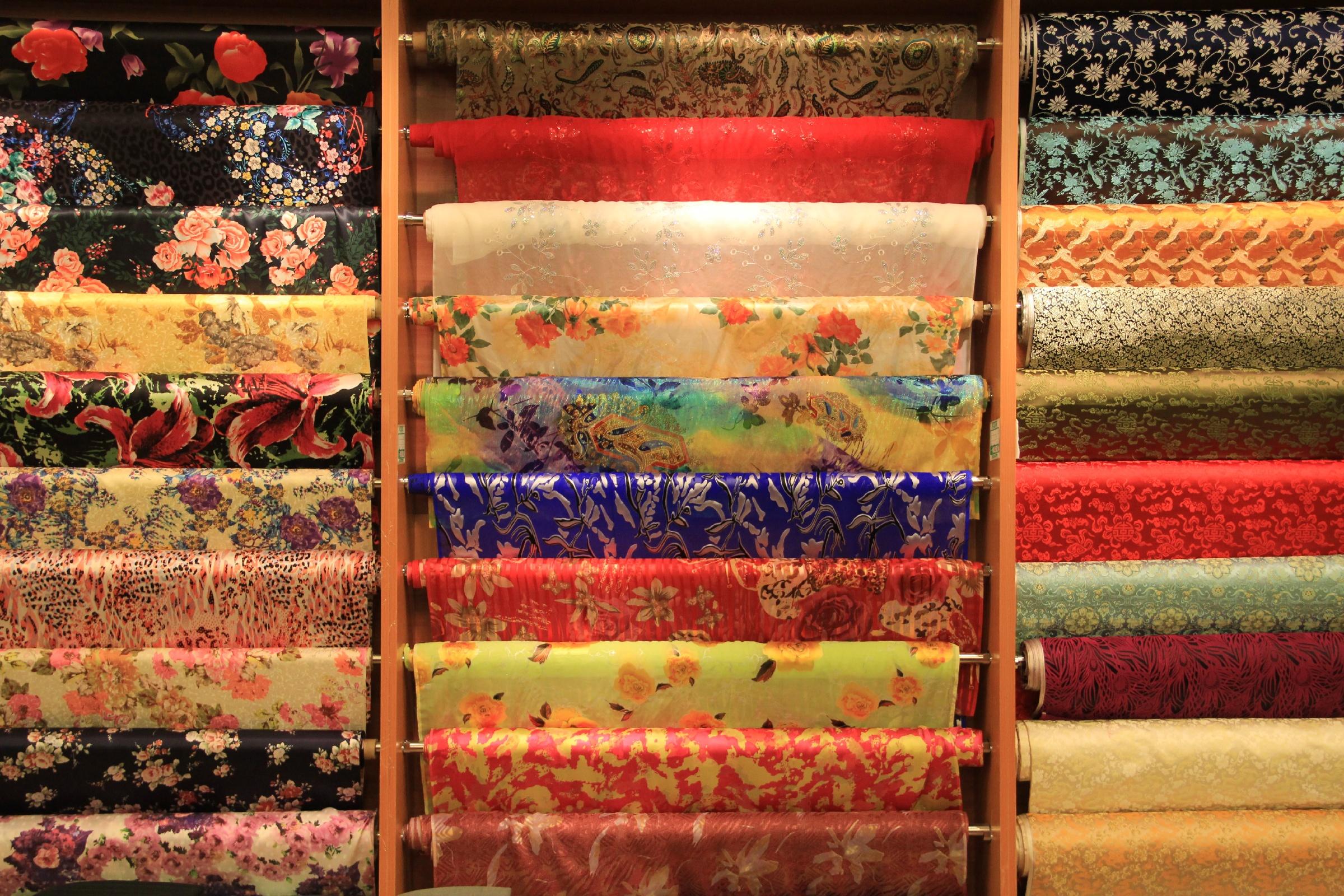 Fabrics in rolls