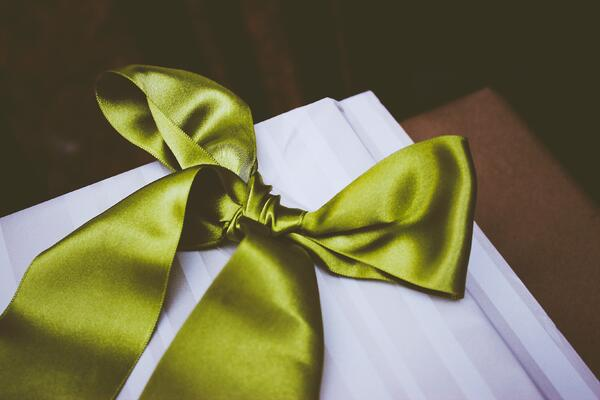 High-end green satin bow