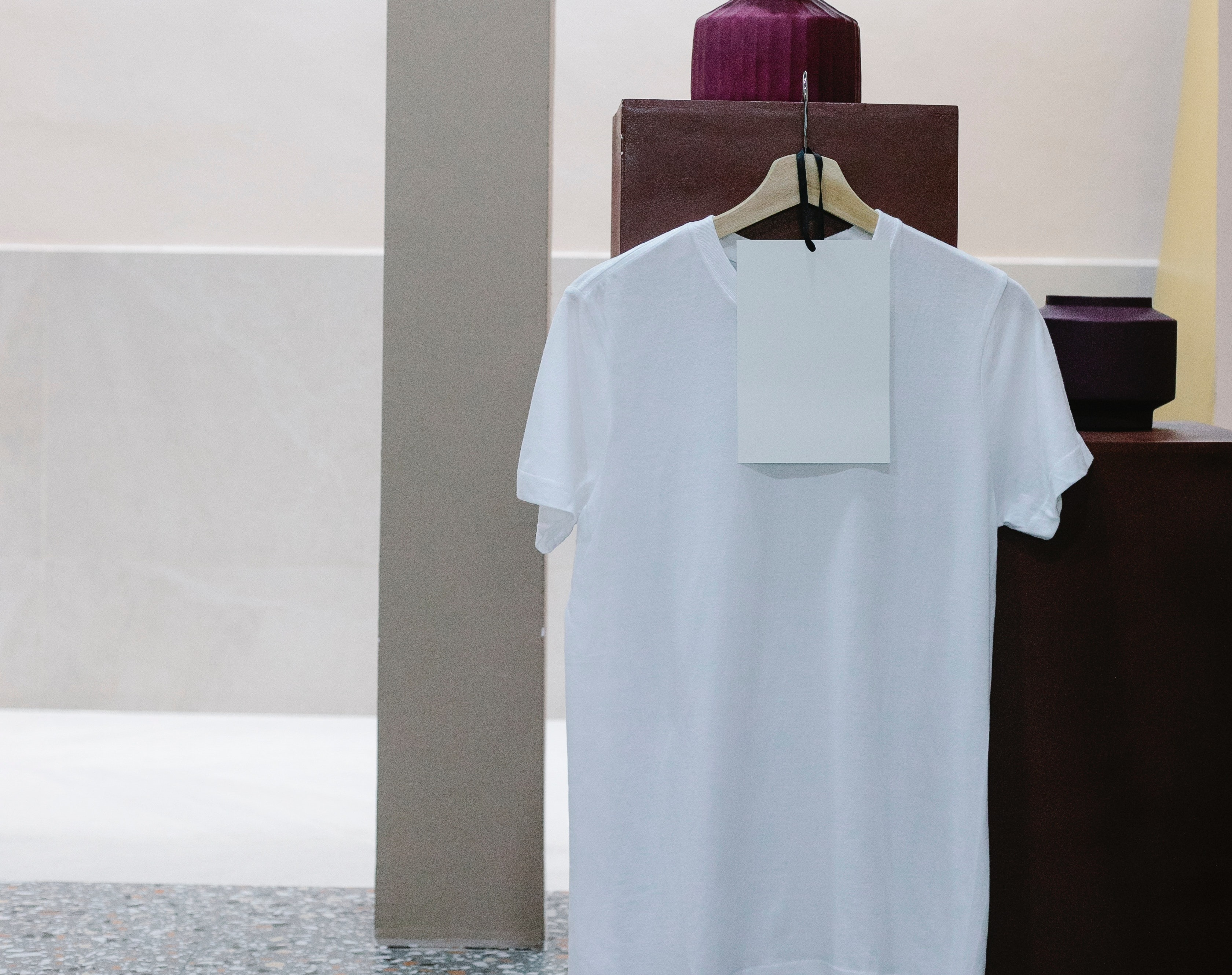 t-shirt with price tag