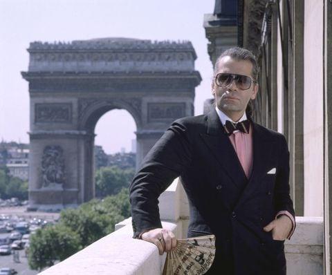 Karl Lagerfeld giovane