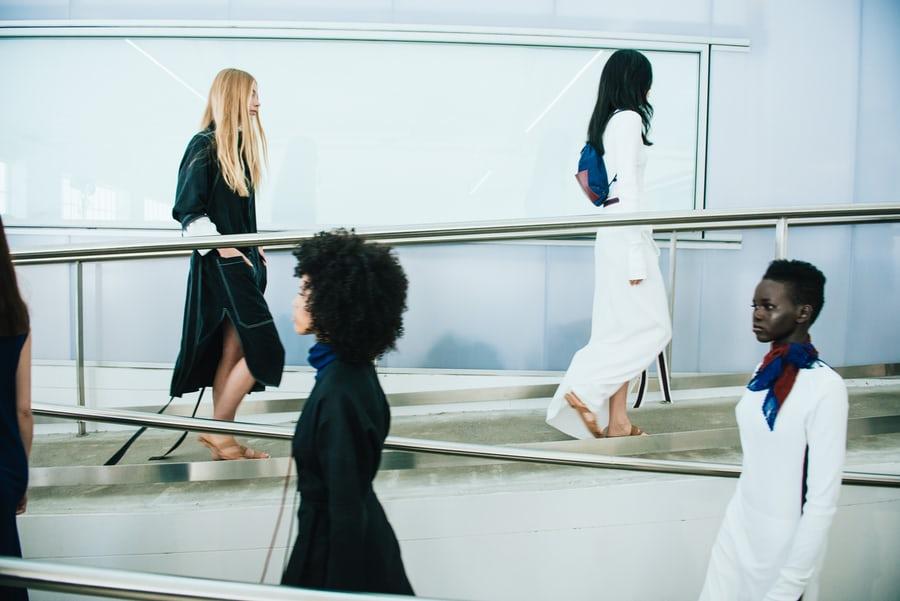 Models walking the runway