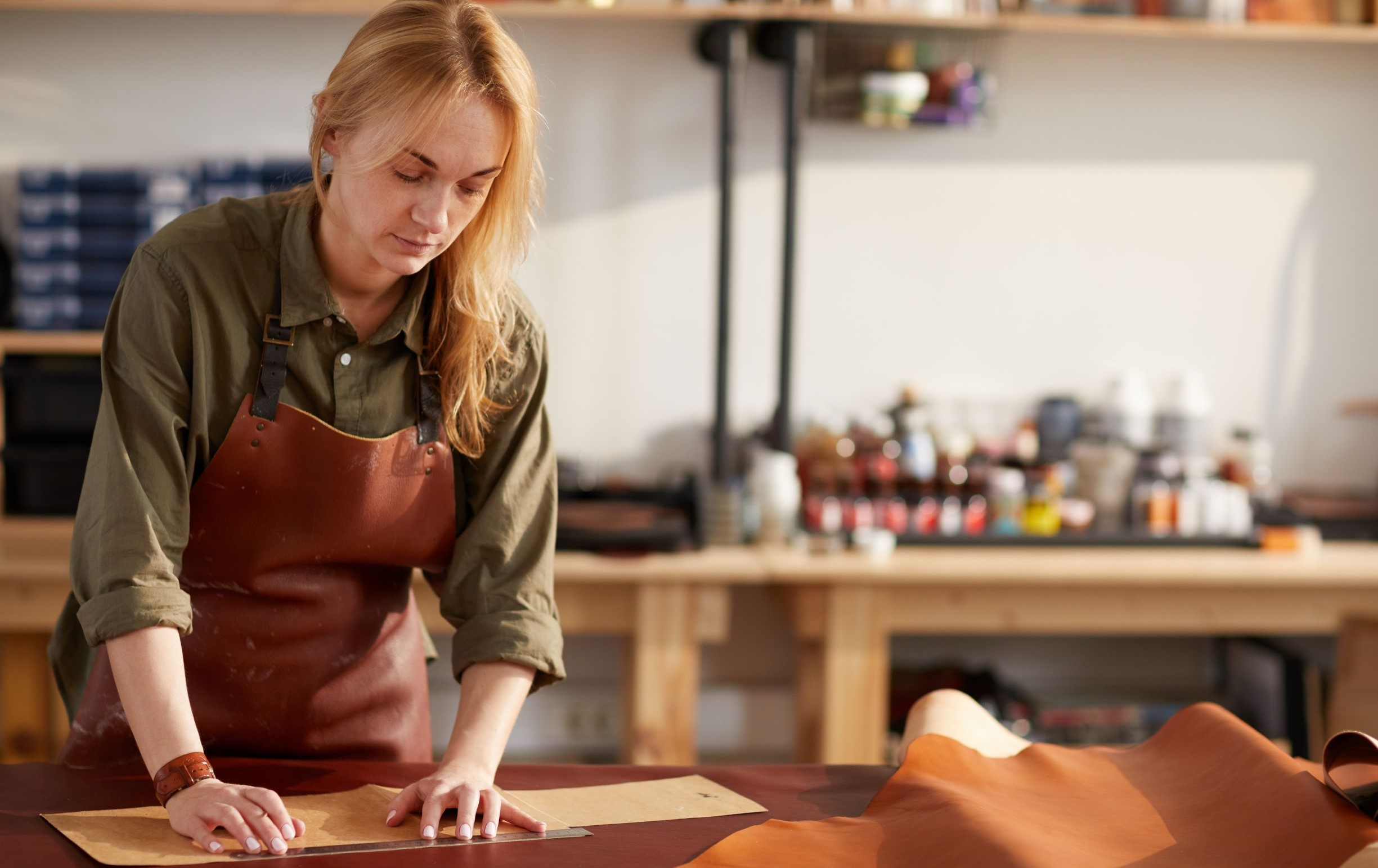 woman-in-leather-shop